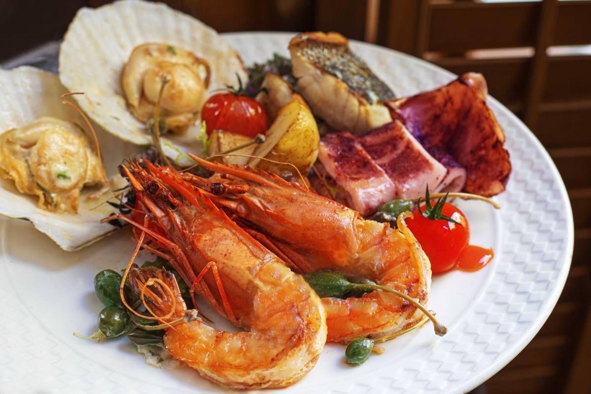 staycation Dinner menu seafood platter